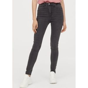 H&M Skinny High Waist Dark Gray Jeans